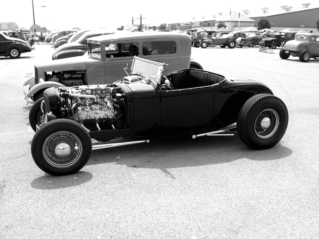 Autocollant Vintage Hot Rod
